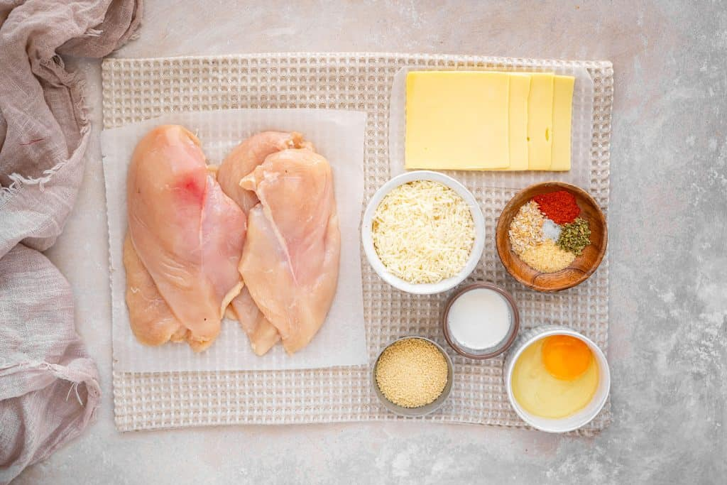 ingredients needed to make keto friendly chicken parmesan