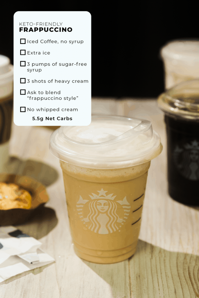 exact instructions for ordering a keto frappuccino from starbucks