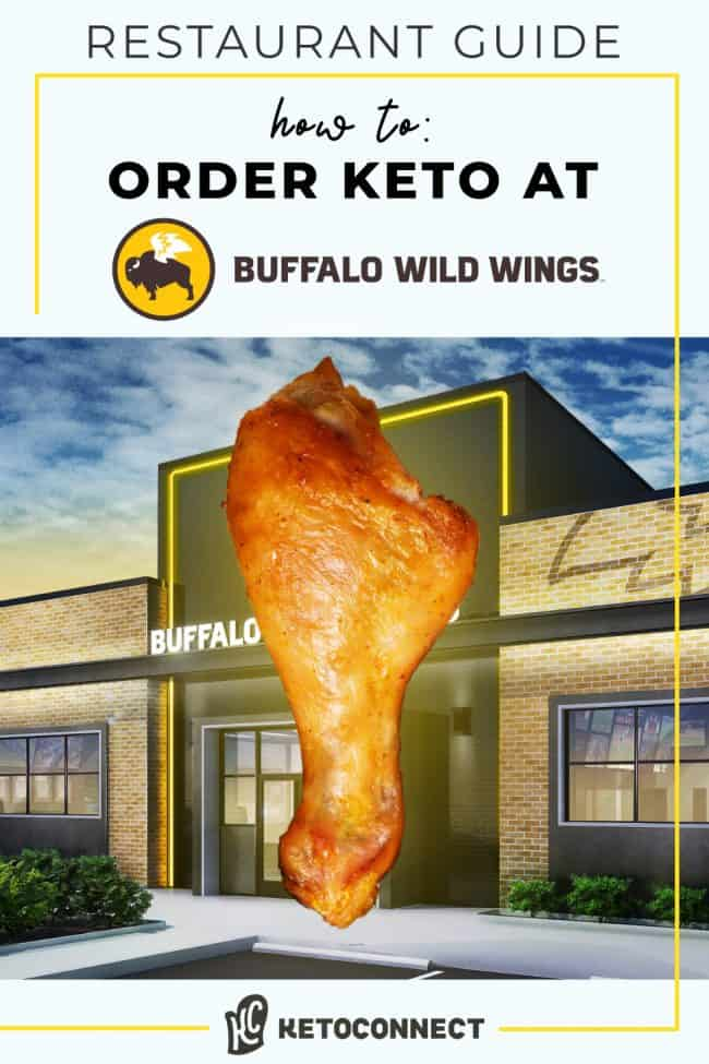 chicken wing in front of a buffalo wild wings restaurant