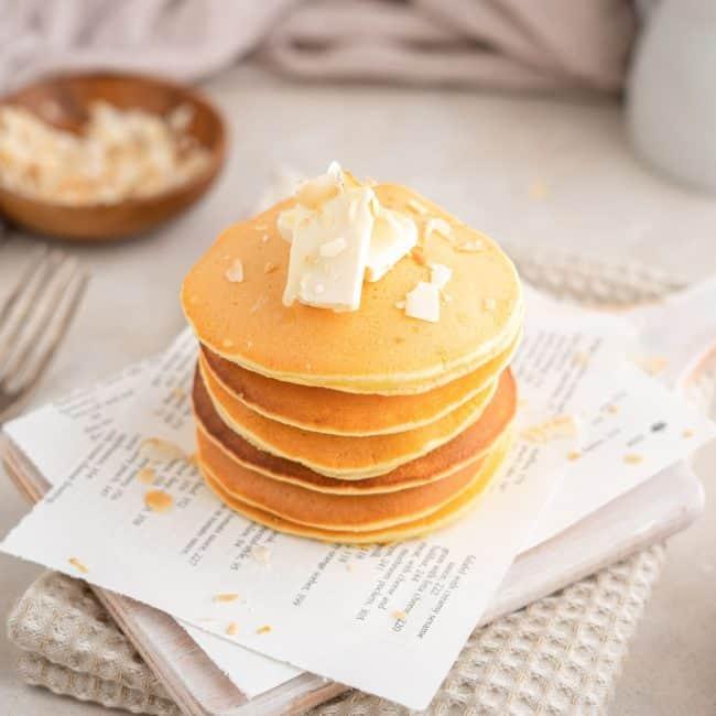 front facing shot protein pancakes
