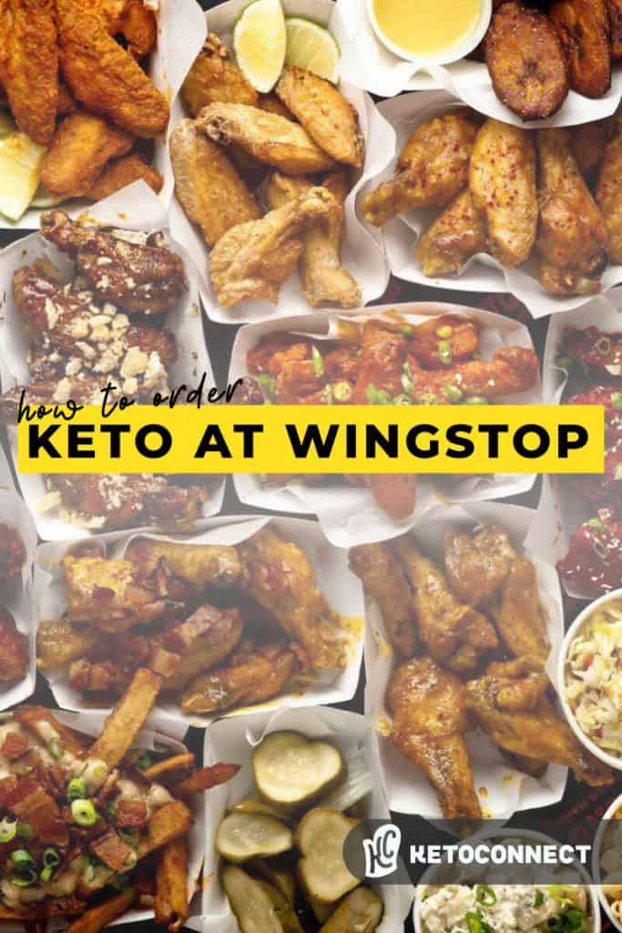 a large table filled with different types of chicken wings