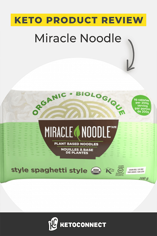 A green and white bag of Miracle noodles, Spaghetti style.