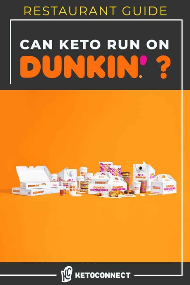 can keto run on dunkin picture graphic with takeout foods