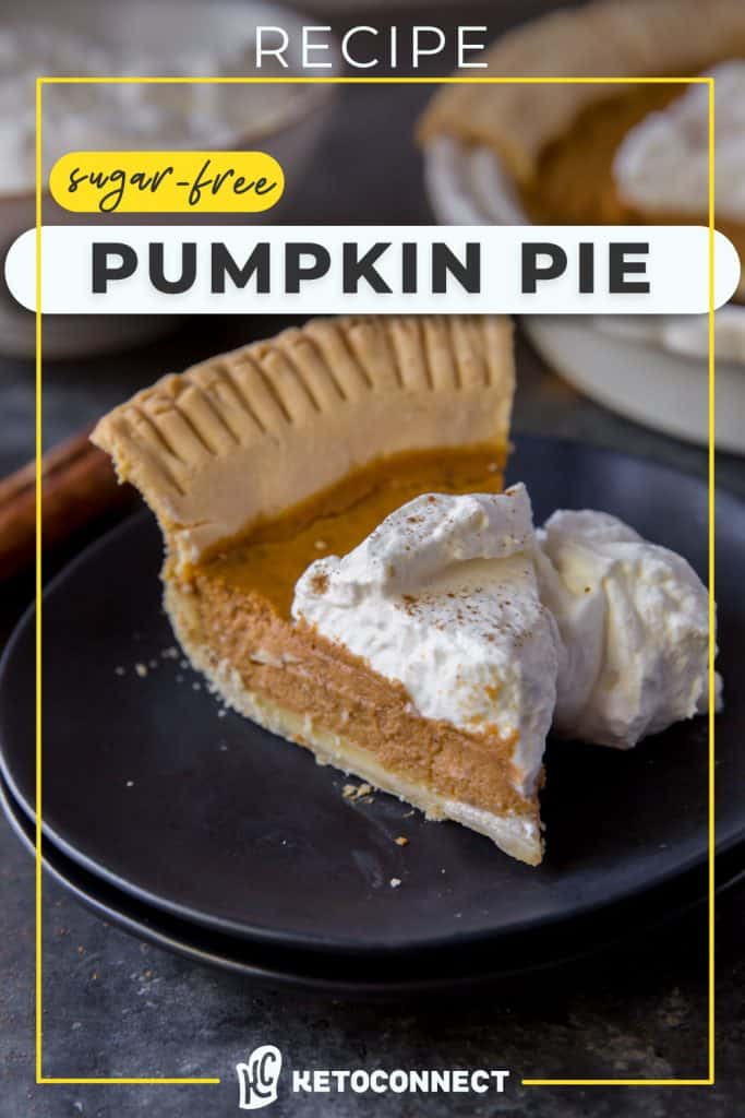 pumpkin pie slice on a plate with whipped cream