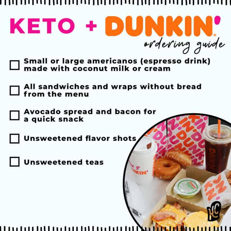 keto dunkin donuts checklist