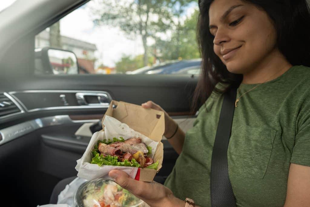Arbys brisket sandwich wrapped in lettuce