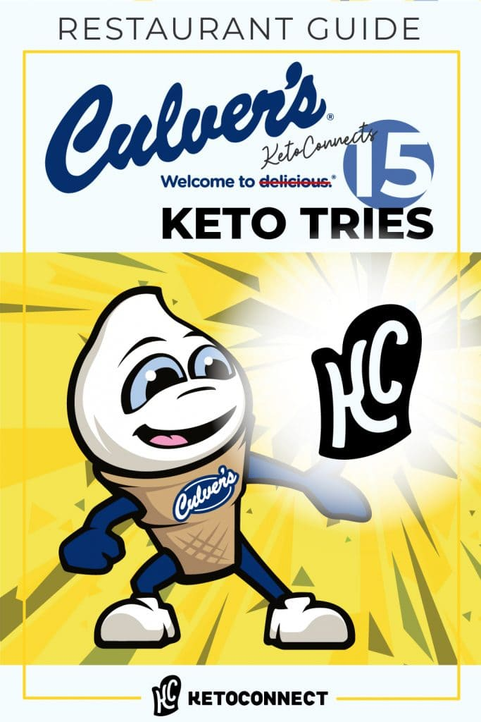 ketoconnect culvers keto with text overlay