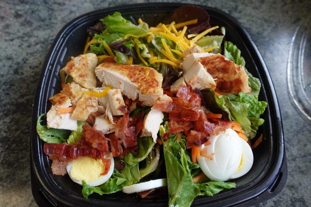 grilled chicken cobb salad from whataburger