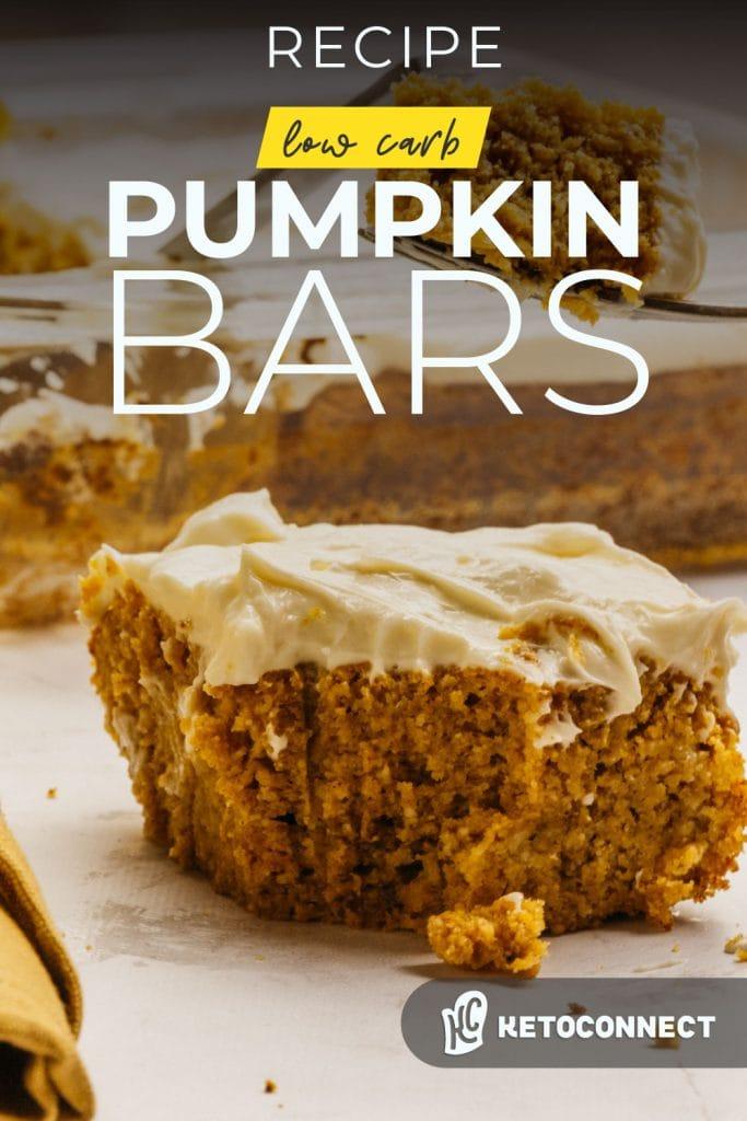 keto pumpkin bars are a great fall recipe