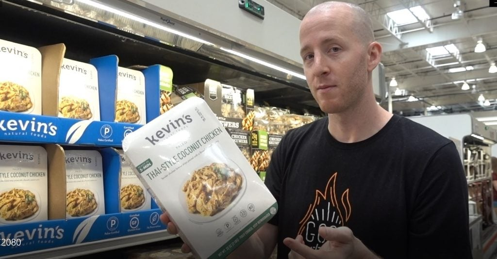 man showing which items are good for keto at costco