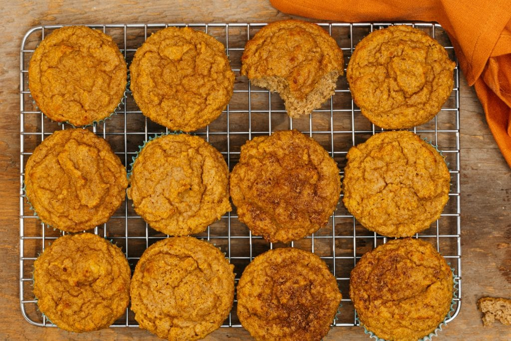 transfer muffins to the cooling rack