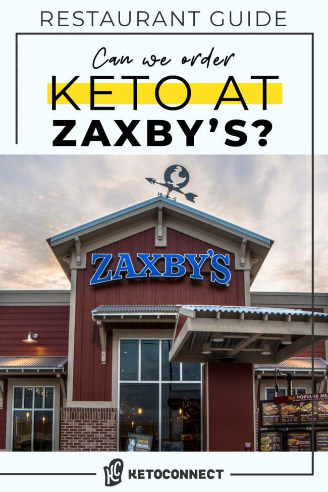 The front of a zaxbys restaurant