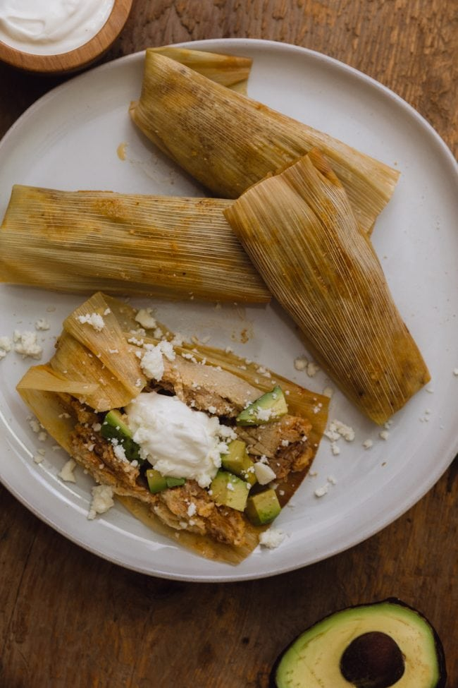keto tamales on a plate