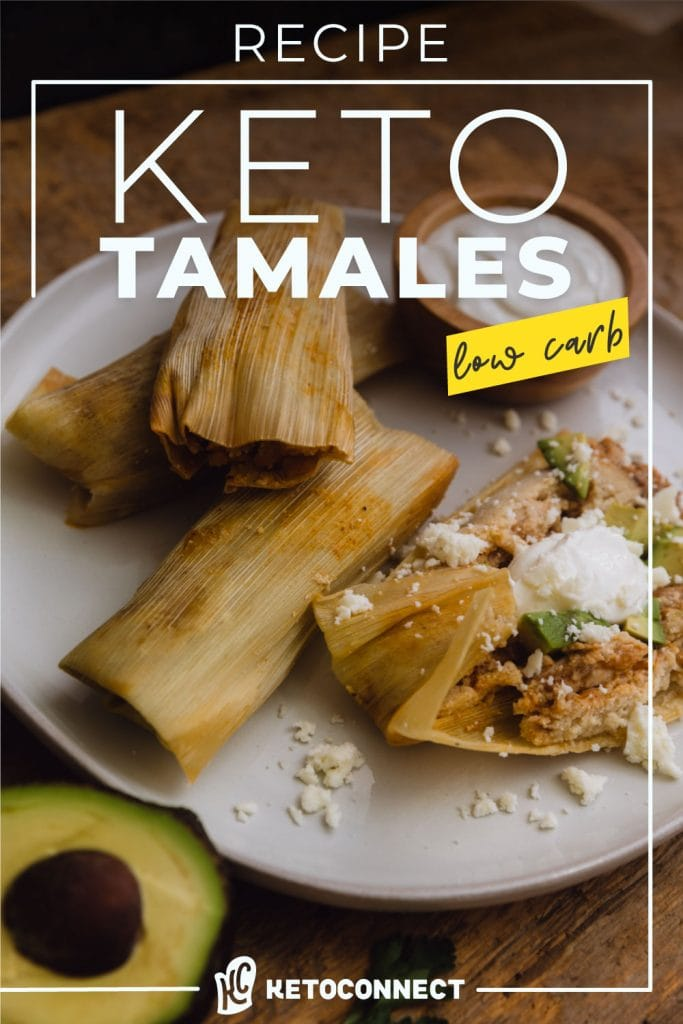 gluten free keto tamales topped with sour cream